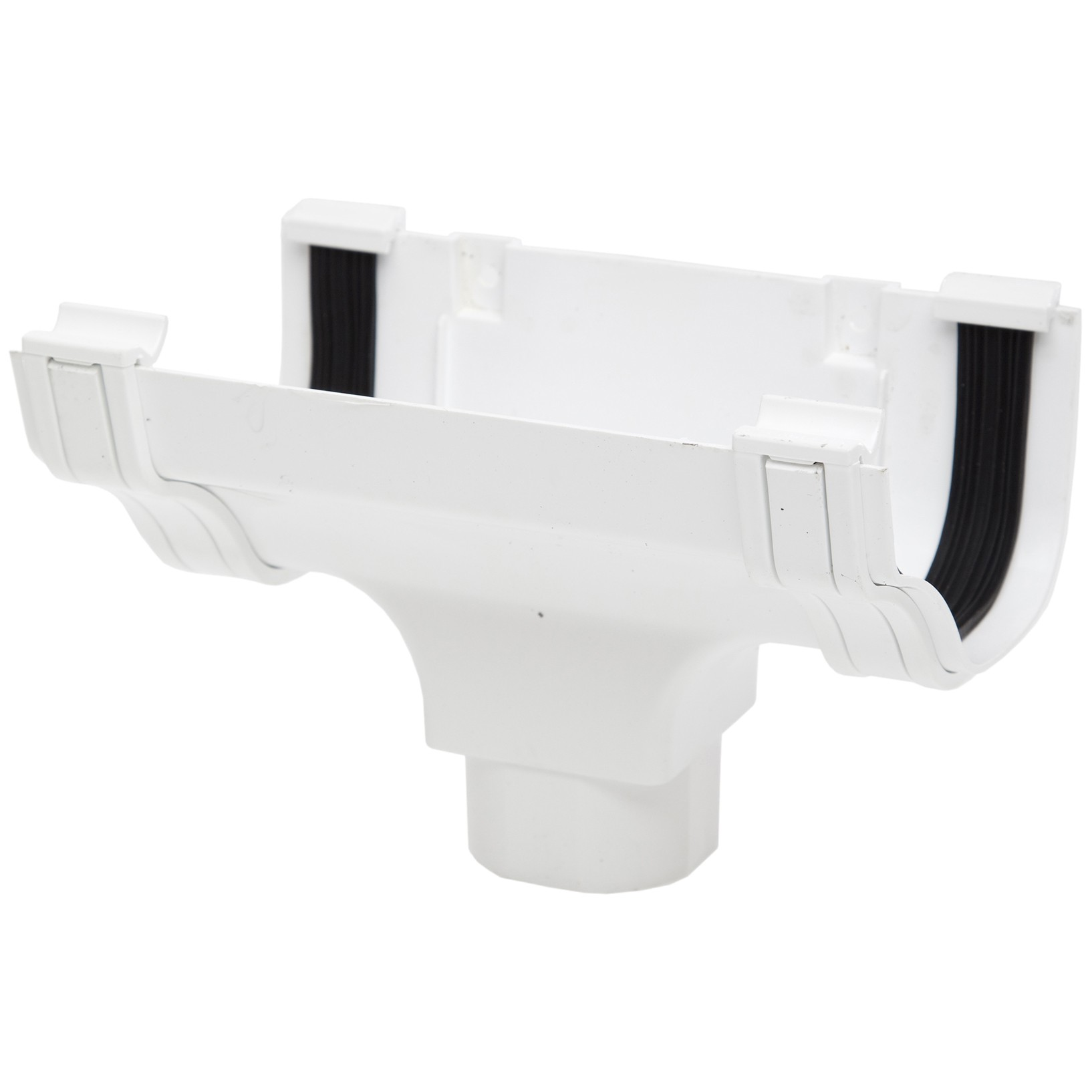 Polypipe 130mm Ogee Extra Capacity Gutter Running Outlet - White