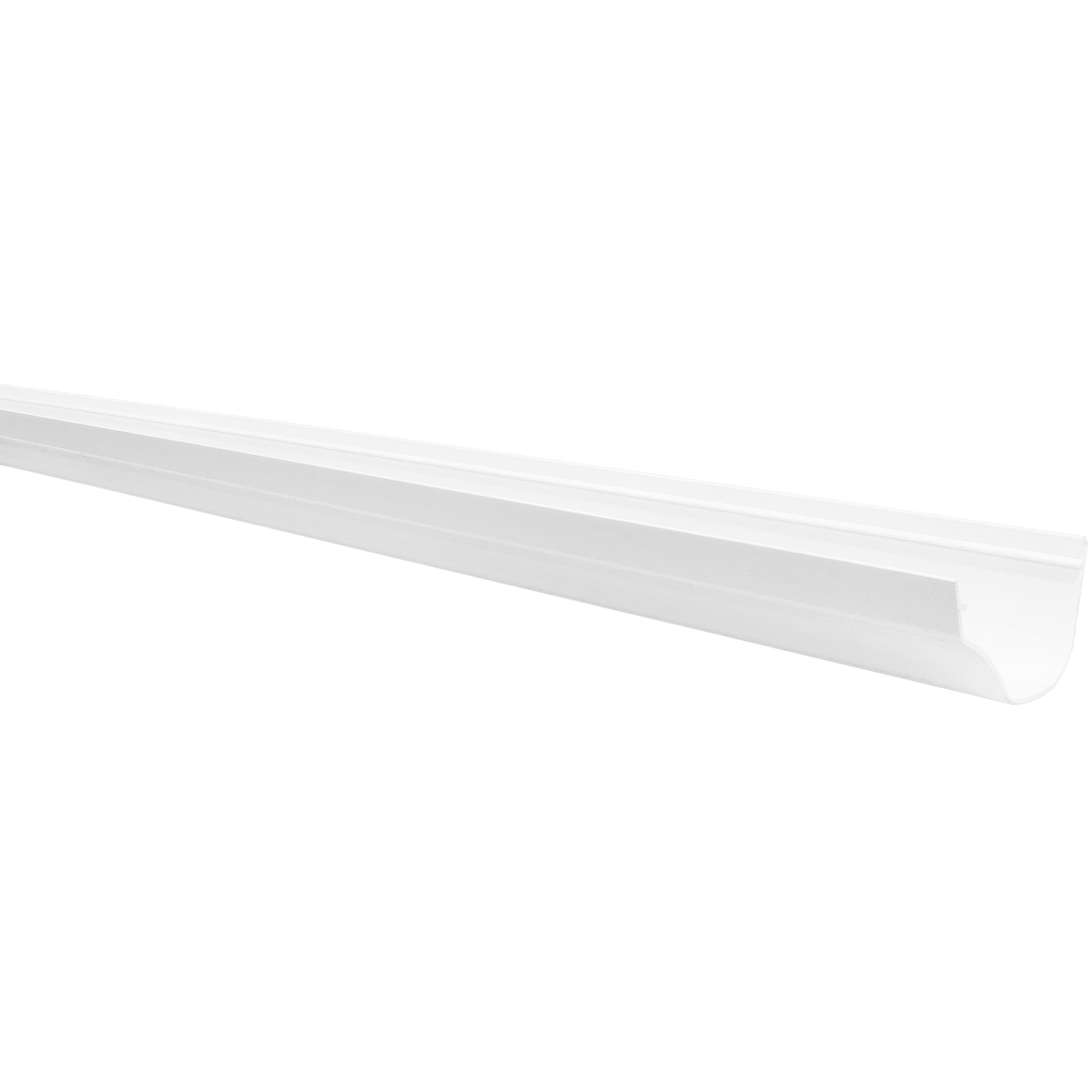 Polypipe 130mm Ogee Extra Capacity Gutter - White, 4 metre