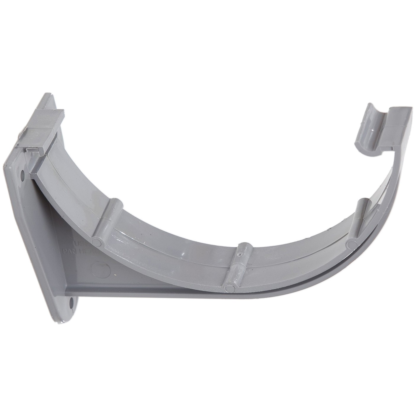Polypipe 150mm Large Half Round Gutter Fascia Bracket - Grey