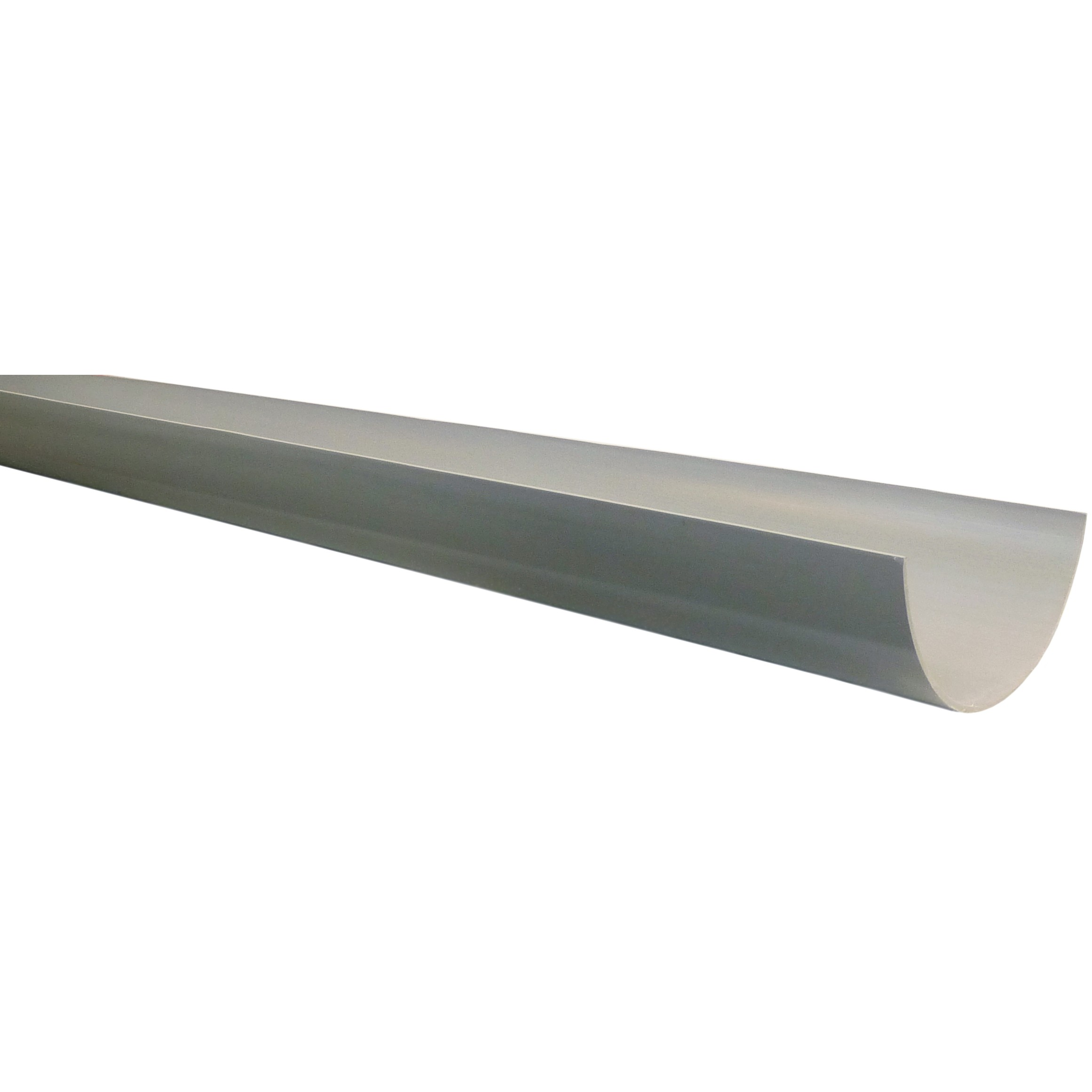 Polypipe 150mm Large Half Round Gutter - Grey, 4 metre