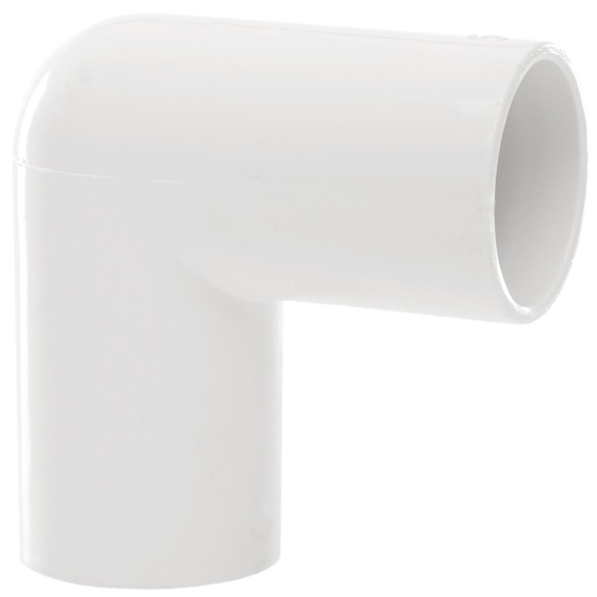 Polypipe 21.5mm Solvent Weld Overflow 90 Degree Bend - White