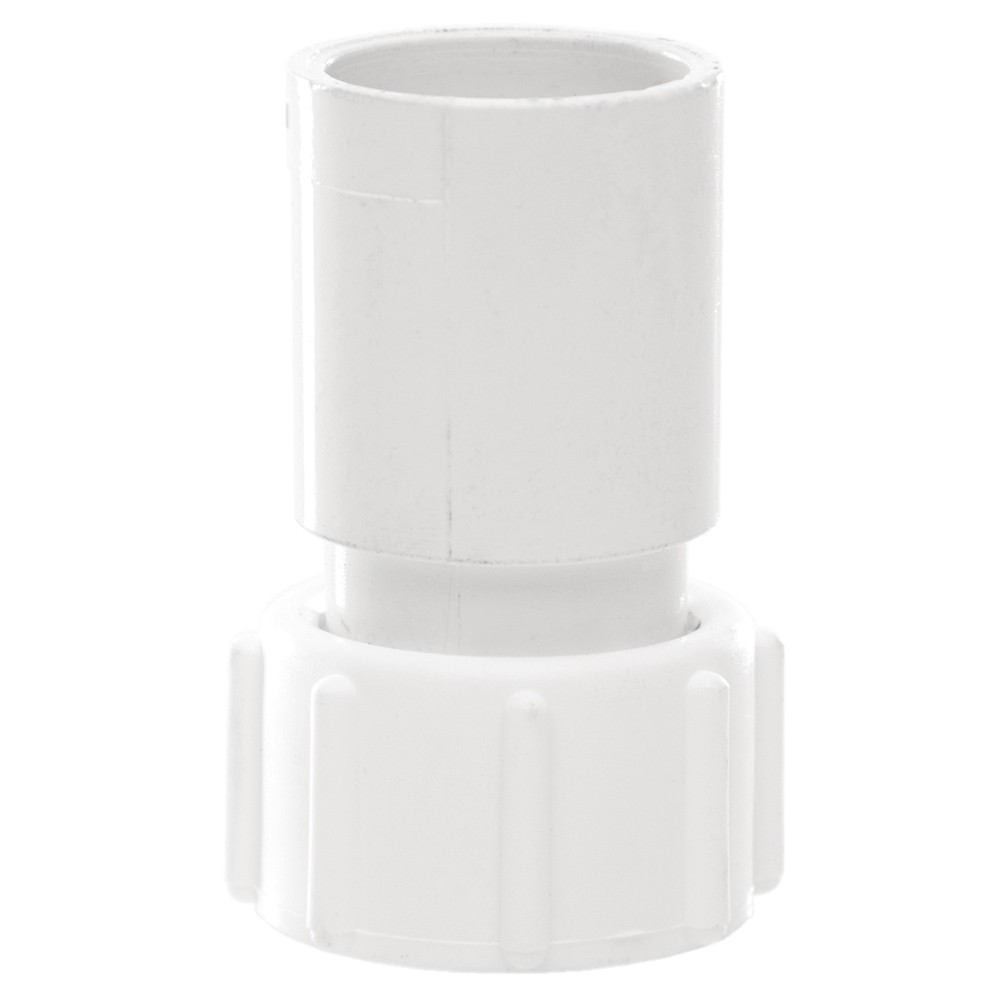 Polypipe 21.5mm Solvent Weld Overflow Adaptor - White