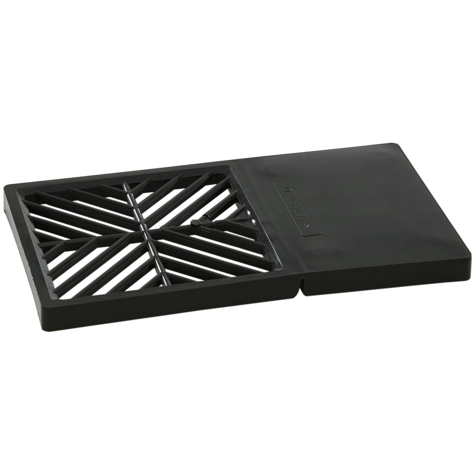 Polypipe 250mm x 150mm Rectangular Plastic Grid for Gully - Black