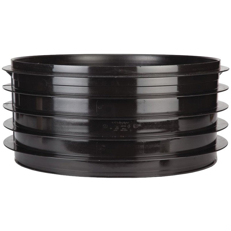 Polypipe 320mm Underground Side Riser for 320mm Chamber Base - Black, 320mm x 135mm