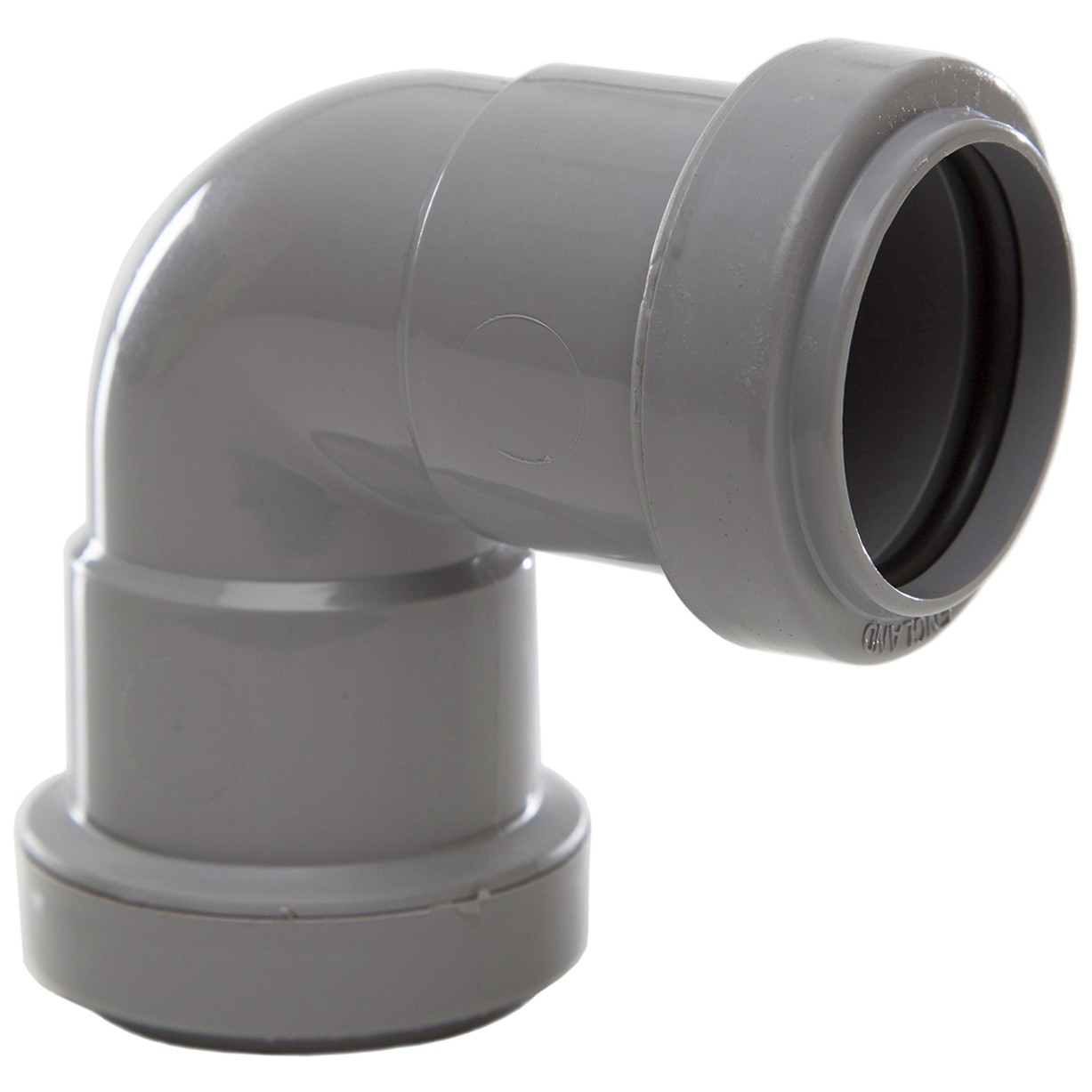Polypipe 32mm Push Fit Waste 90 Degree Knuckle Bend - Grey
