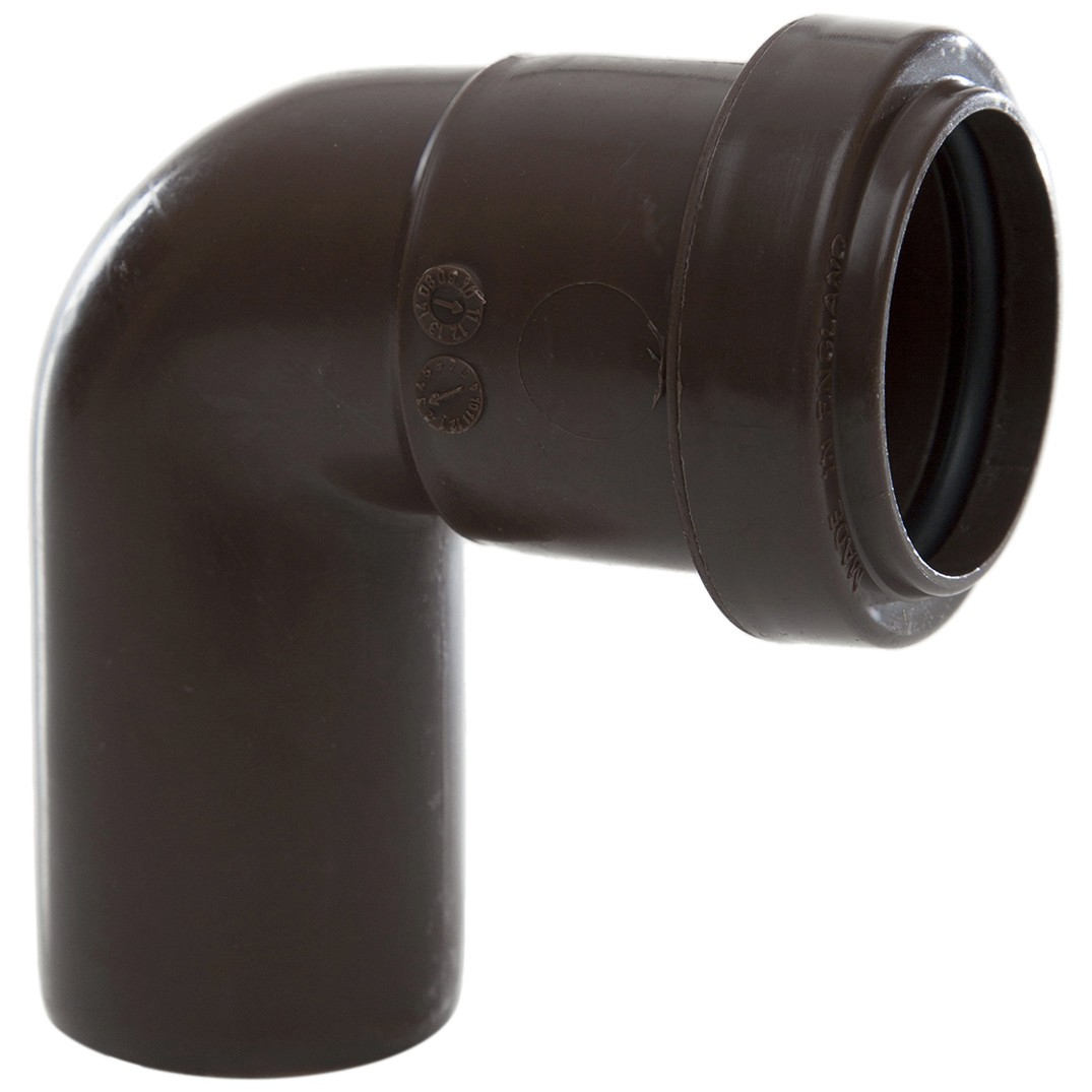 Polypipe 32mm Push Fit Waste 91.25 Degree Swivel Bend - Brown