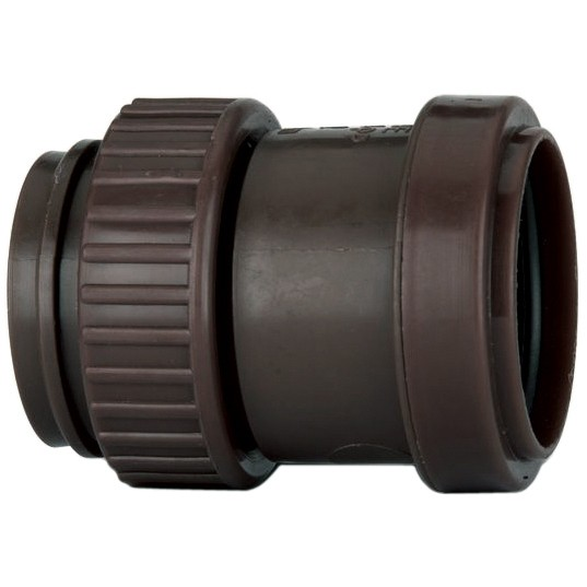 Polypipe 32mm Push Fit Waste Female Threaded Coupler - Brown