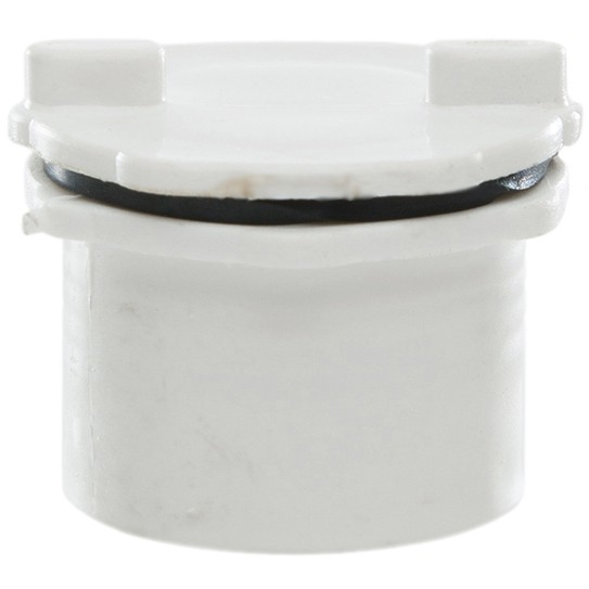 Polypipe 32mm Push Fit Waste Screwed Access Plug - White