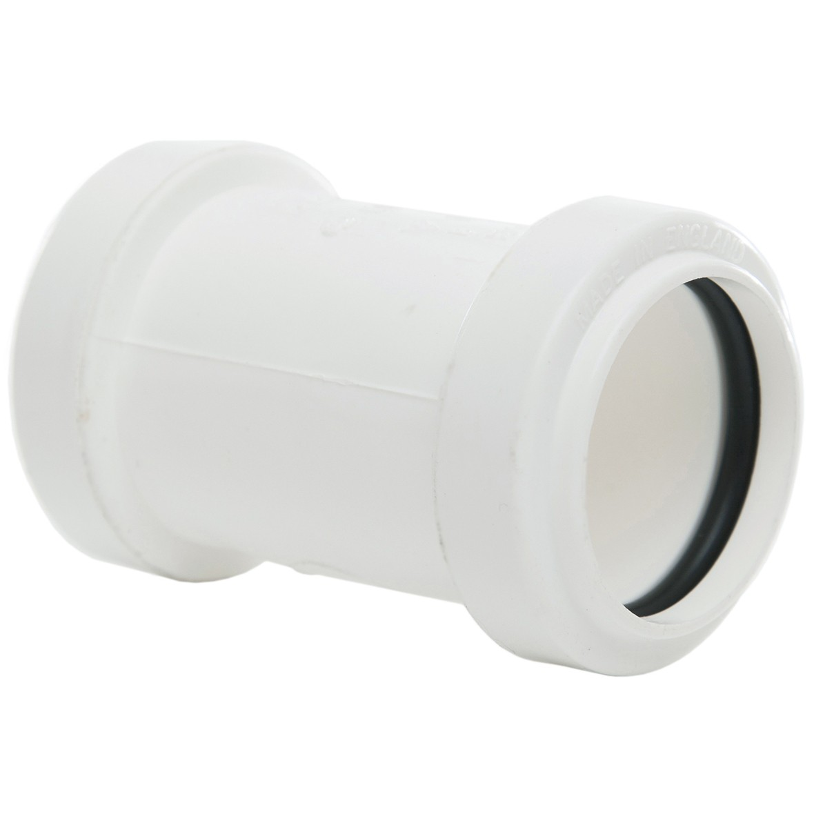 Polypipe 32mm Push Fit Waste Straight Coupler - White