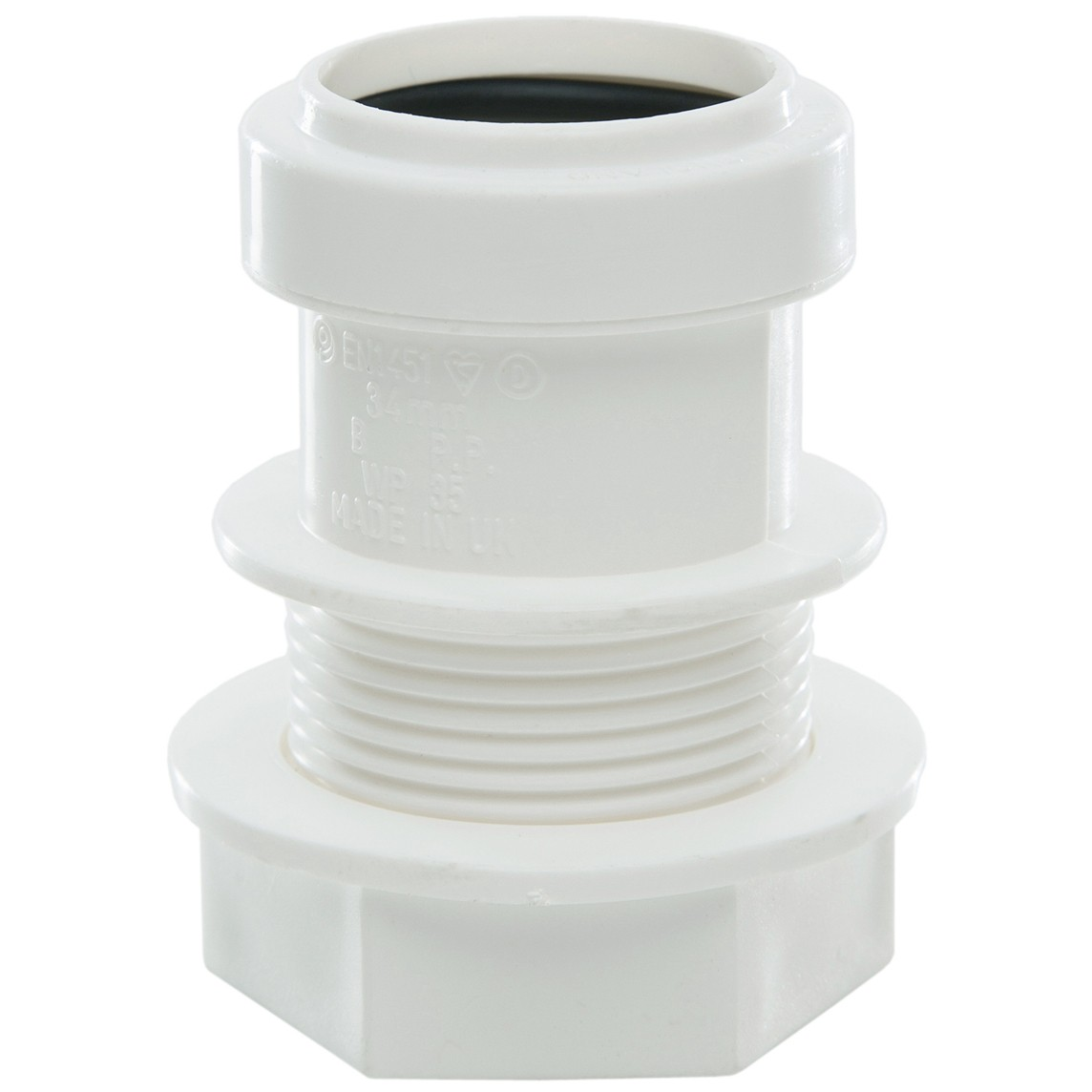 Polypipe 32mm Push Fit Waste Tank Connector - White
