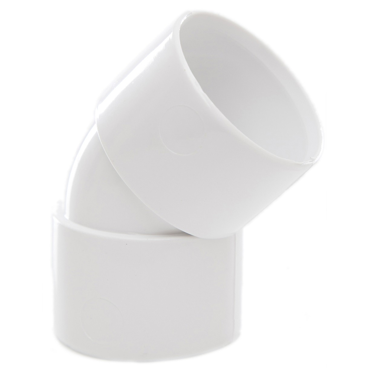 Polypipe 32mm Solvent Weld Waste 45 Degree Obtuse Bend - White