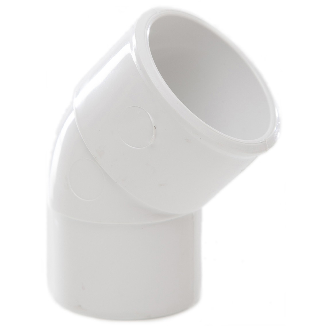 Polypipe 32mm Solvent Weld Waste 45 Degree Spigot Bend - White