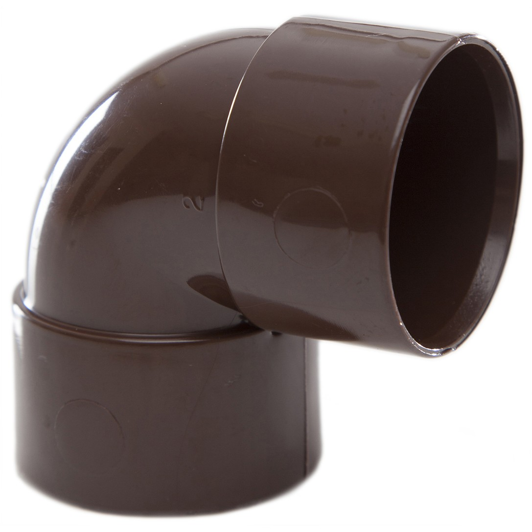 Polypipe 32mm Solvent Weld Waste 90 Degree Knuckle Bend - Brown