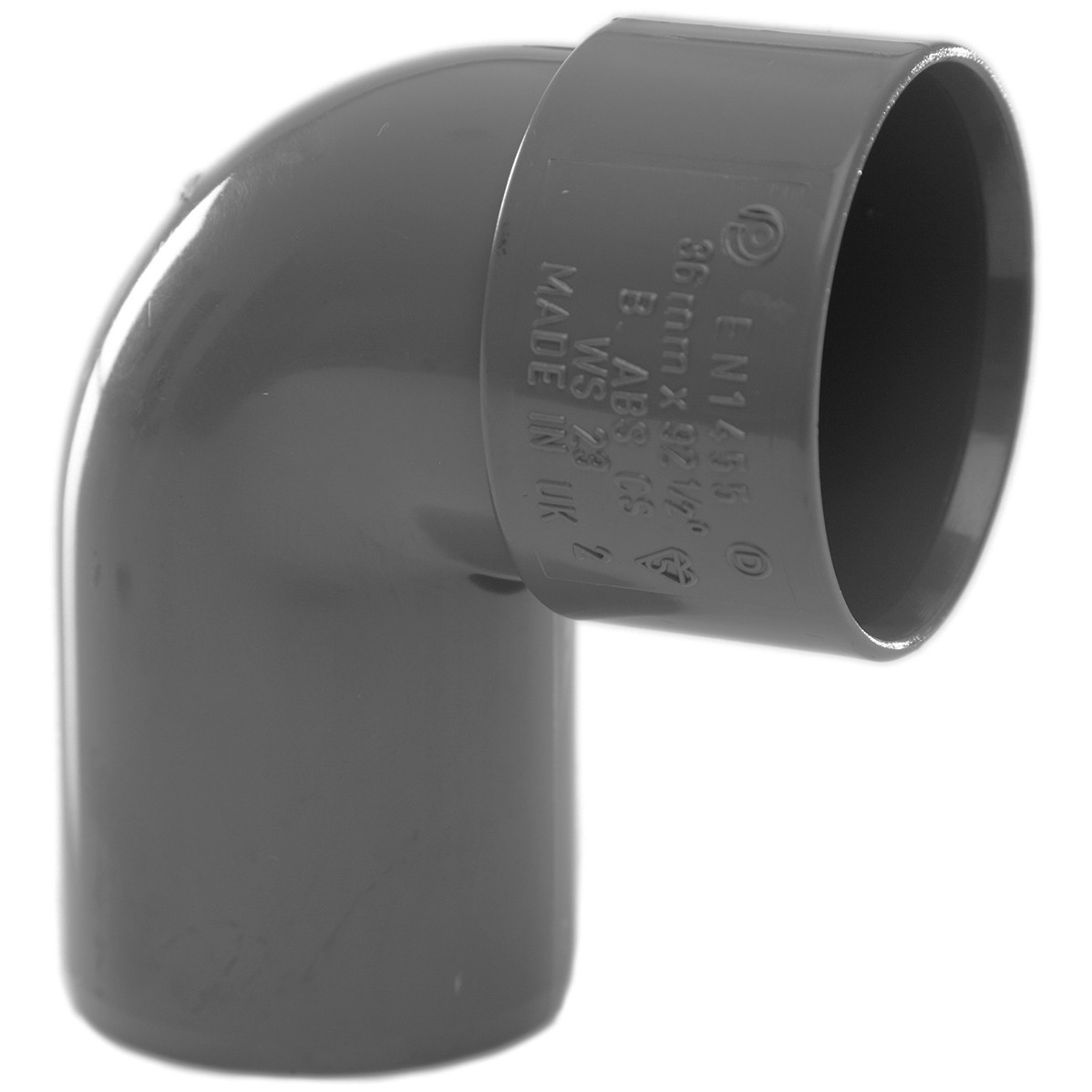 Polypipe 32mm Solvent Weld Waste 92.5 Degree Swivel Bend - Grey