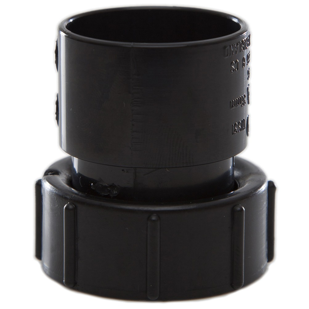 Polypipe 32mm Solvent Weld Waste Female Threaded Coupler - Black