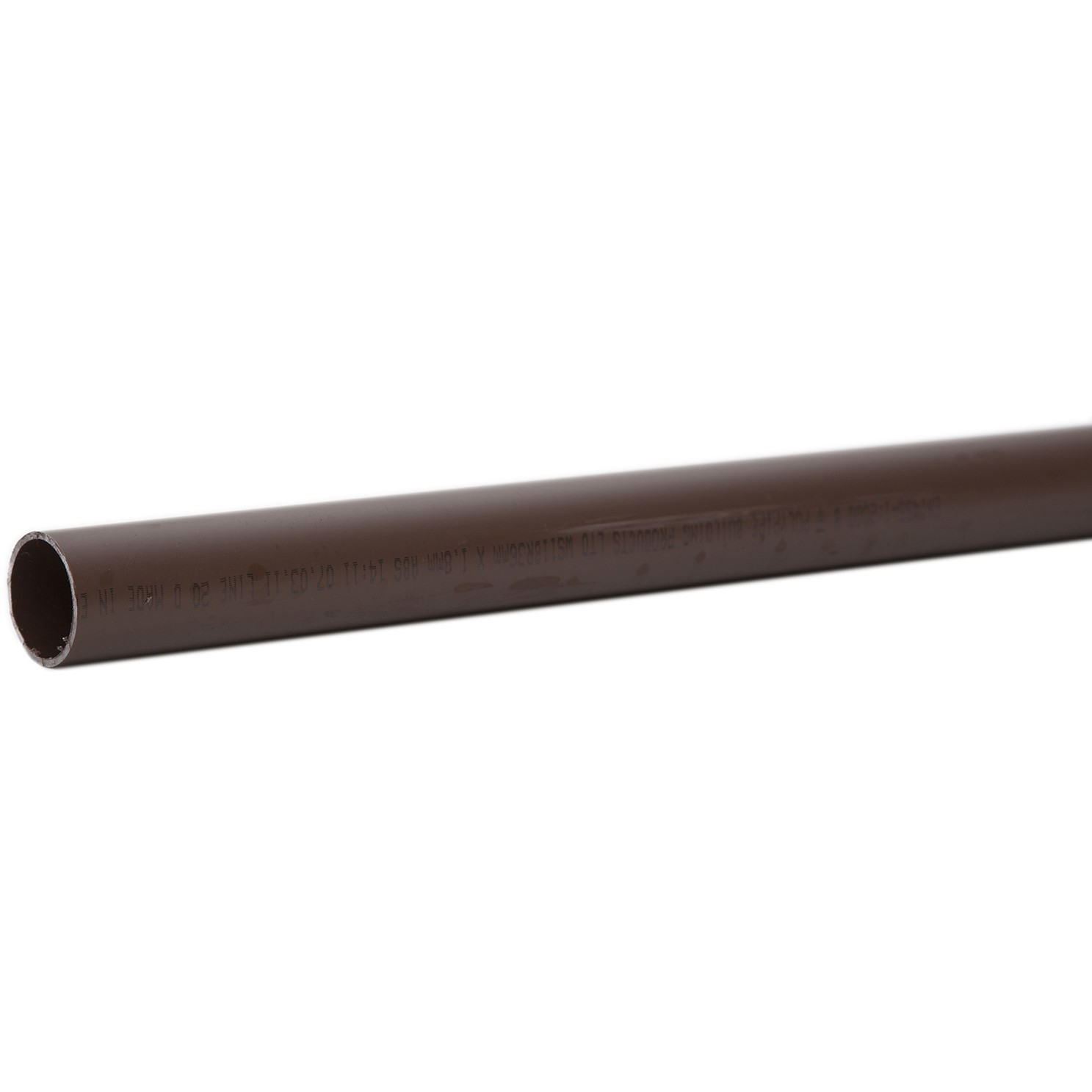 Polypipe 32mm Solvent Weld Waste Pipe - Brown, 3 metre