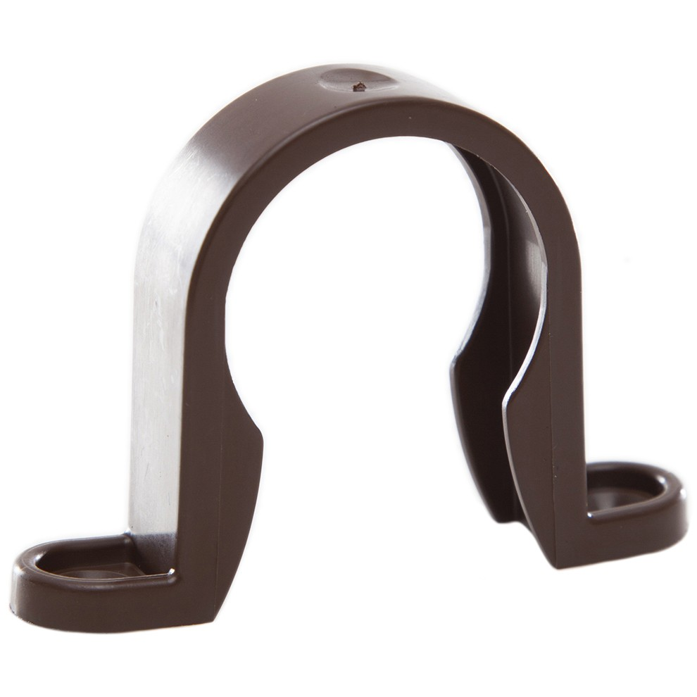 Polypipe 32mm Solvent Weld Waste Pipe Clip - Brown