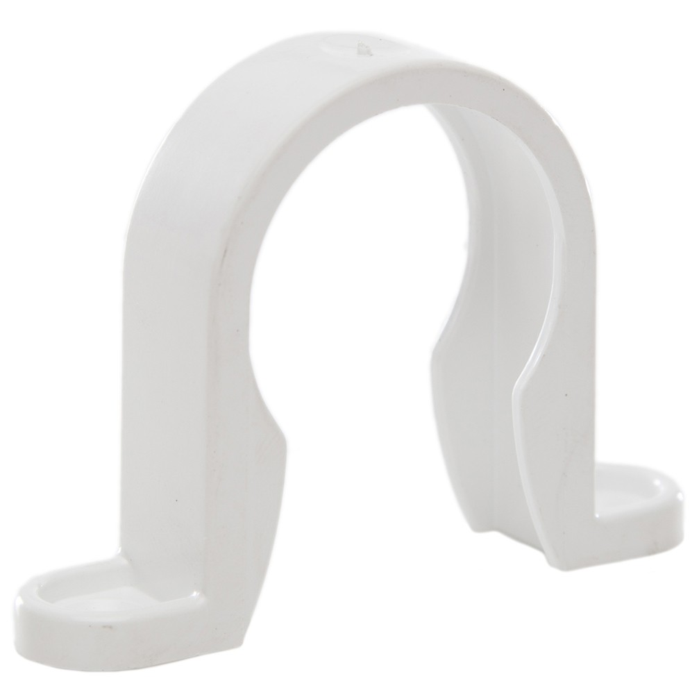 Polypipe 32mm Solvent Weld Waste Pipe Clip - White