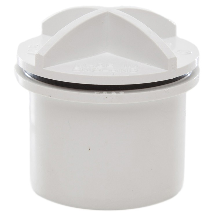Polypipe 32mm Solvent Weld Waste Screwed Access Plug - White