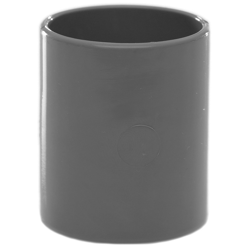 Polypipe 32mm Solvent Weld Waste Straight Coupler - Grey