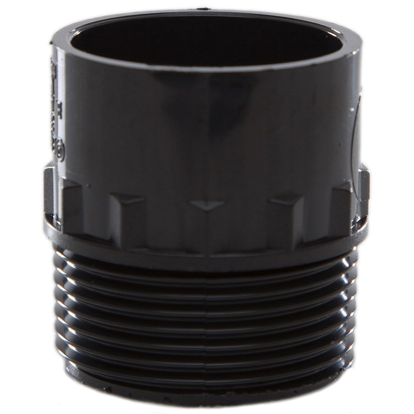 Polypipe 32mm Solvent Weld Waste to Male Iron Adaptor - Black