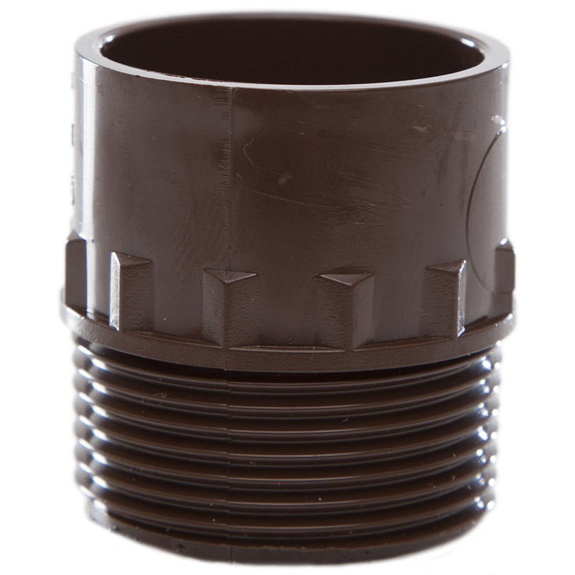 Polypipe 32mm Solvent Weld Waste to Male Iron Adaptor - Brown