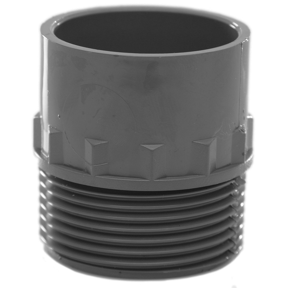 Polypipe 32mm Solvent Weld Waste to Male Iron Adaptor - Grey