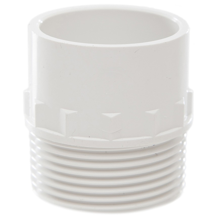 Polypipe 32mm Solvent Weld Waste to Male Iron Adaptor - White