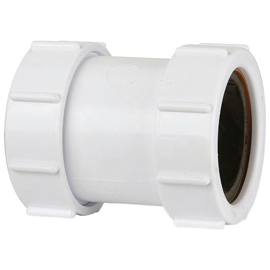 Polypipe 32mm Universal Compression Waste Straight Connector - White