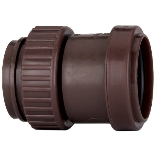 Polypipe 40mm Push Fit Waste Female Threaded Coupler - Brown