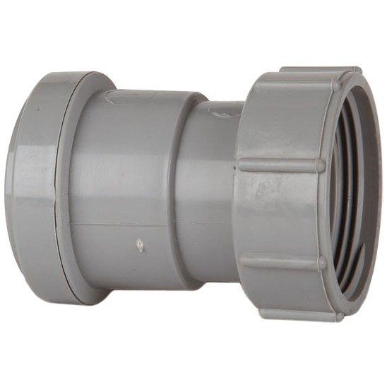Polypipe 40mm Push Fit Waste Female Threaded Coupler - Grey