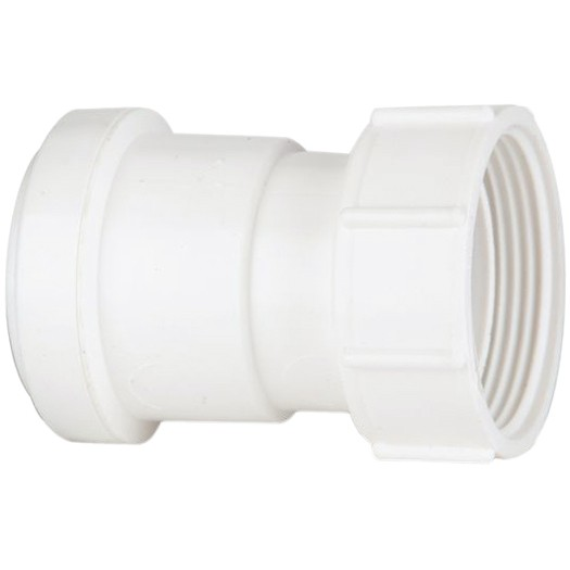 Polypipe 40mm Push Fit Waste Female Threaded Coupler - White