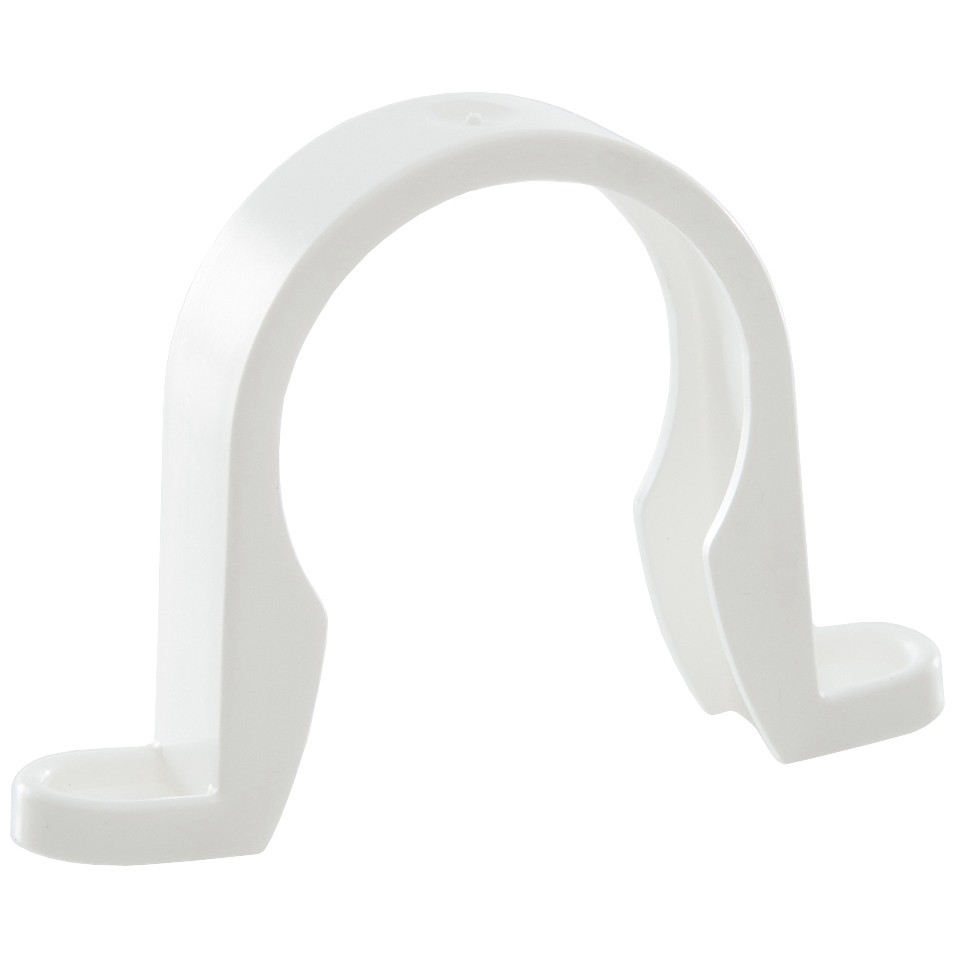 Polypipe 40mm Push Fit Waste Pipe Clip - White