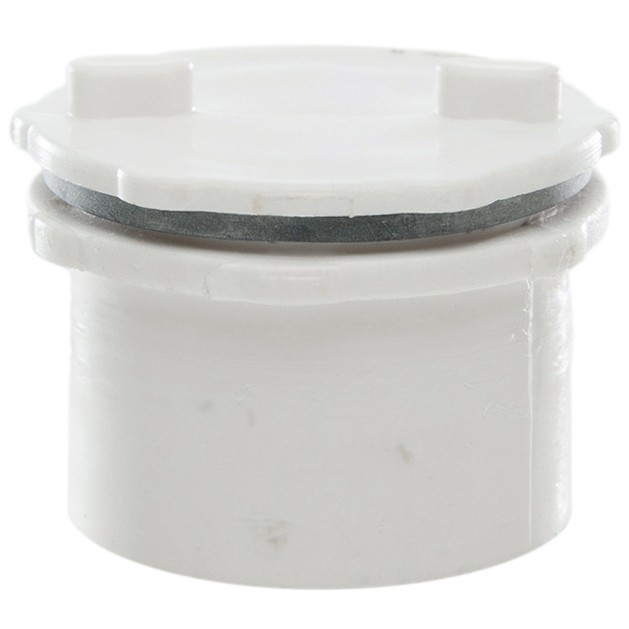 Polypipe 40mm Push Fit Waste Screwed Access Plug - White
