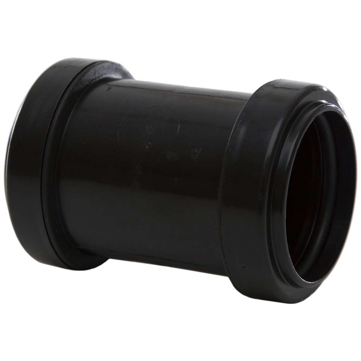 Polypipe 40mm Push Fit Waste Straight Coupler - Black