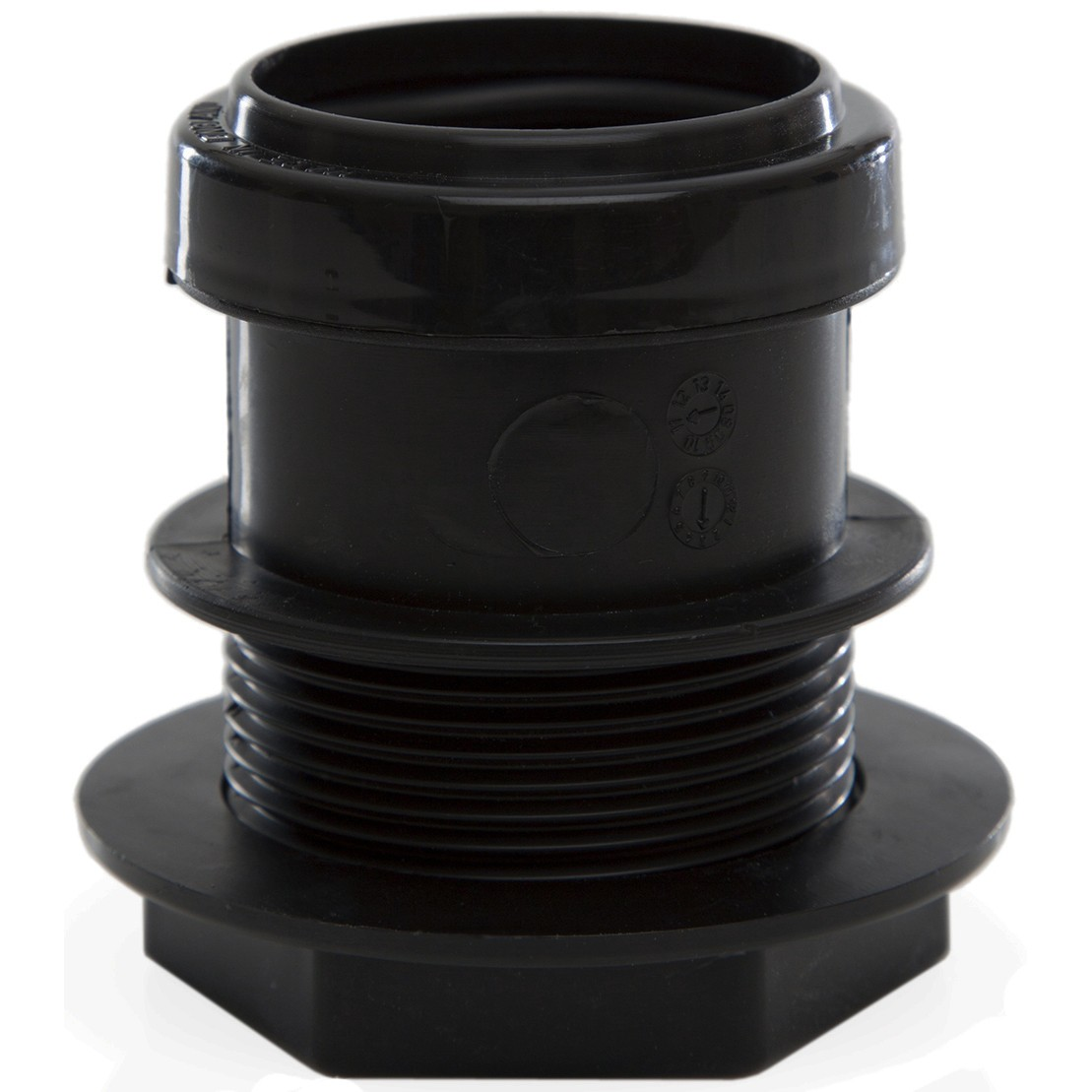 Polypipe 40mm Push Fit Waste Tank Connector - Black