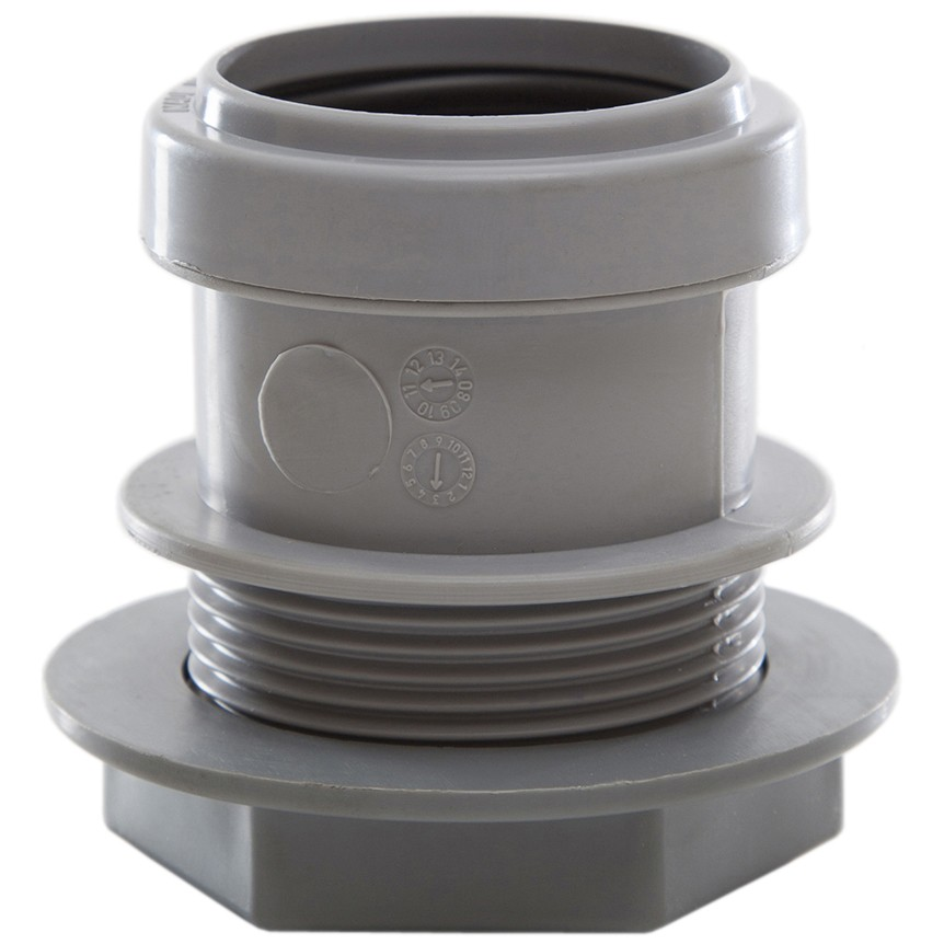 Polypipe 40mm Push Fit Waste Tank Connector - Grey