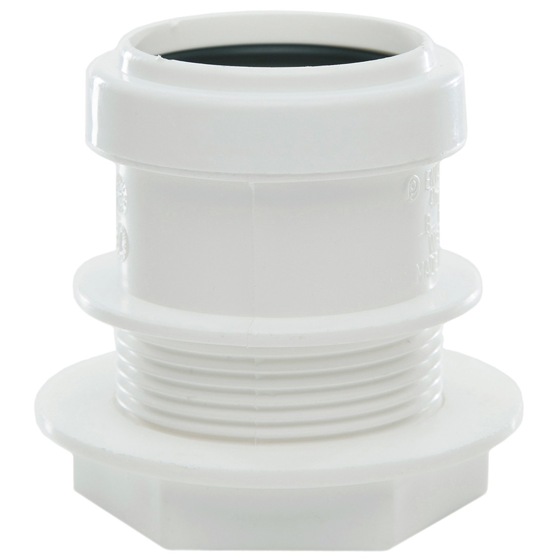 Polypipe 40mm Push Fit Waste Tank Connector - White