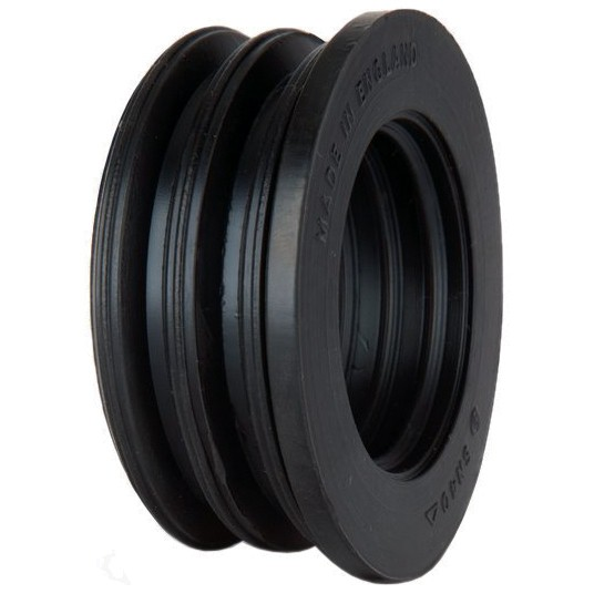 Polypipe 40mm Soil Boss Adaptor Rubber - Black