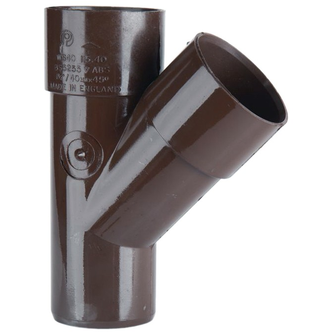 Polypipe 40mm Solvent Weld 45 Degree Junction - Brown