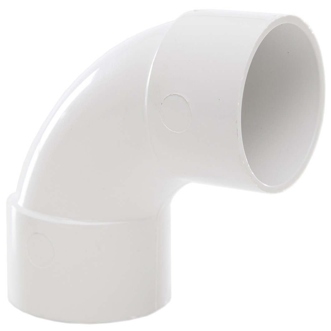 Polypipe 40mm Solvent Weld Waste 92.5 Degree Swept Bend - White
