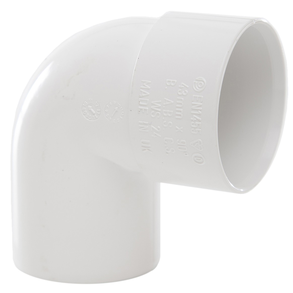 Polypipe 40mm Solvent Weld Waste 92.5 Degree Swivel Bend - White