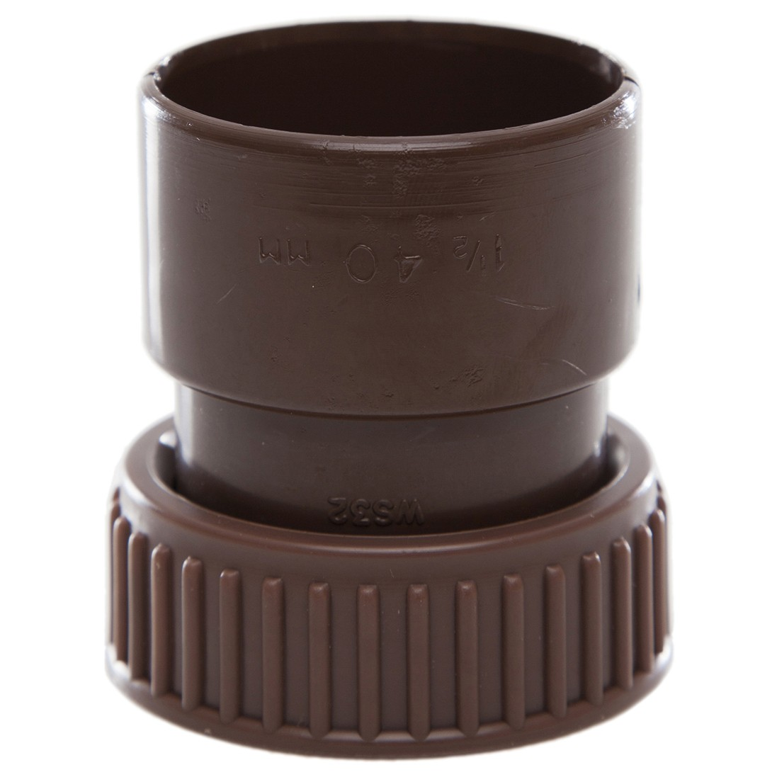 Polypipe 40mm Solvent Weld Waste Female Threaded Coupler - Brown