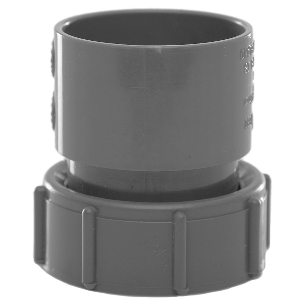Polypipe 40mm Solvent Weld Waste Female Threaded Coupler - Grey