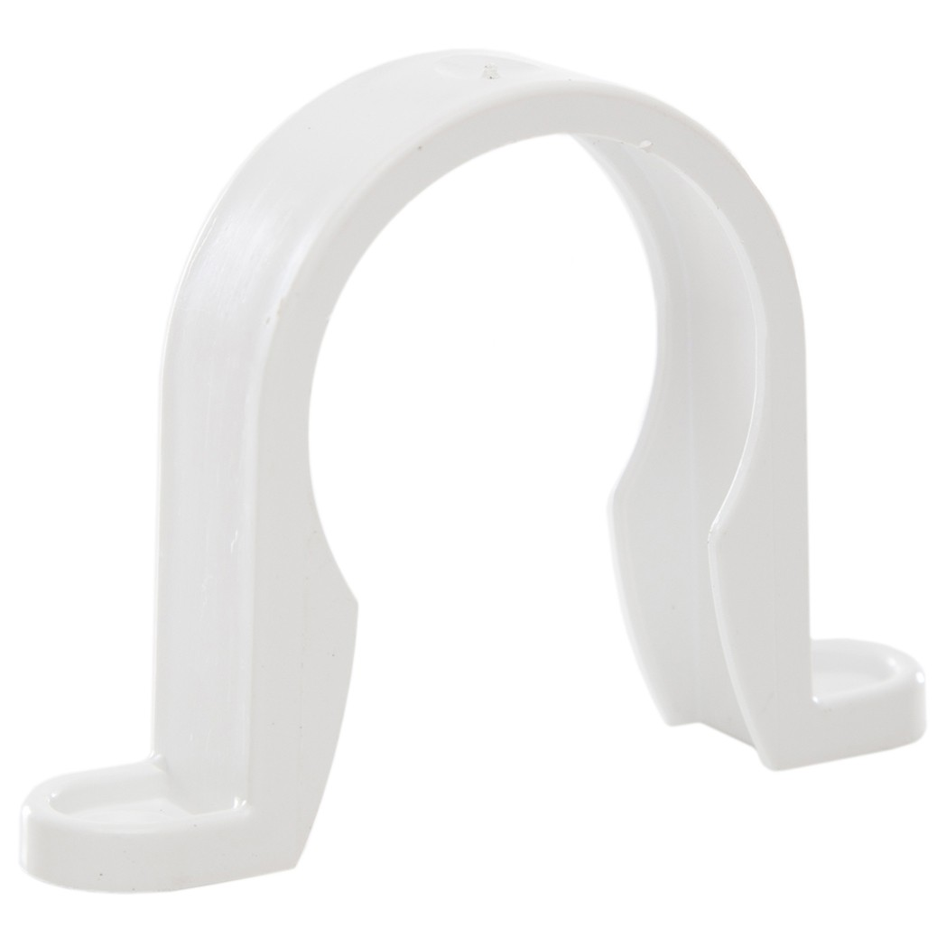 Polypipe 40mm Solvent Weld Waste Pipe Clip - White