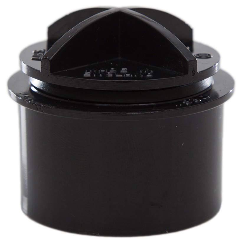 Polypipe 40mm Solvent Weld Waste Screwed Access Plug - Black
