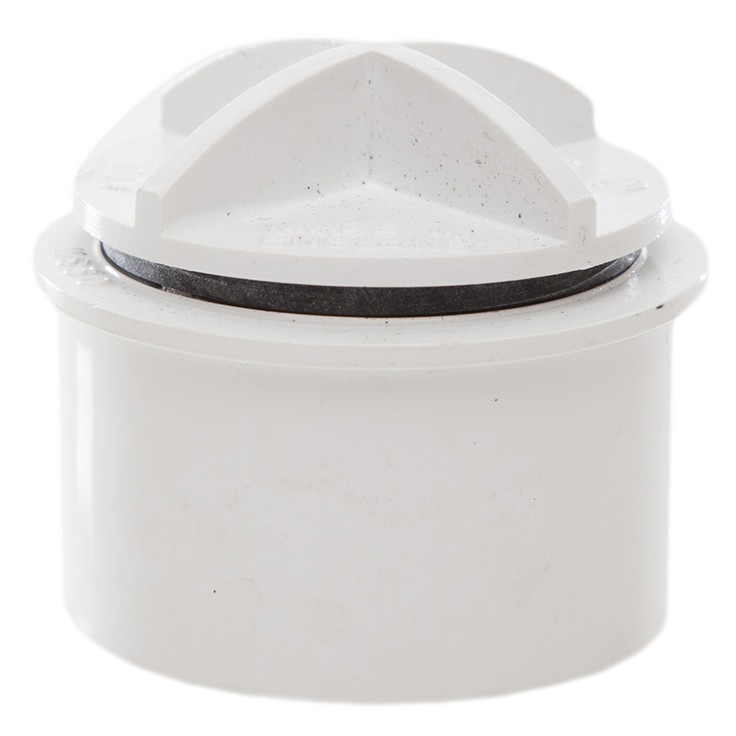 Polypipe 40mm Solvent Weld Waste Screwed Access Plug - White