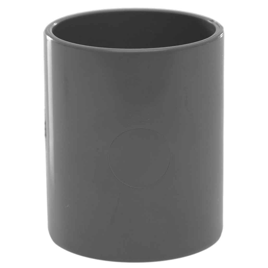 Polypipe 40mm Solvent Weld Waste Straight Coupler - Grey