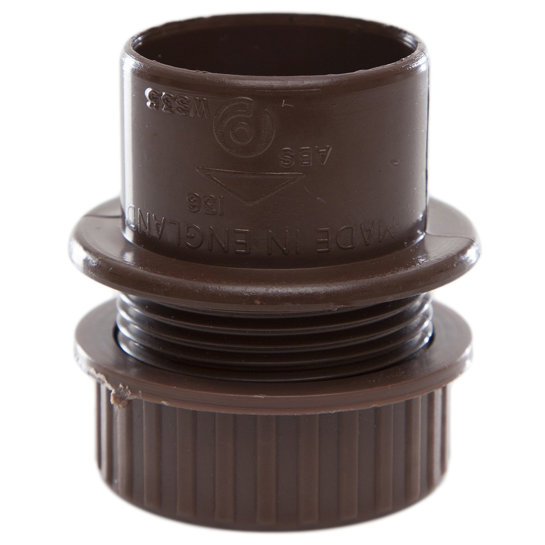 Polypipe 40mm Solvent Weld Waste Tank Connector - Brown