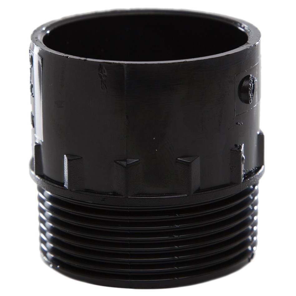 Polypipe 40mm Solvent Weld Waste to Male Iron Adaptor - Black